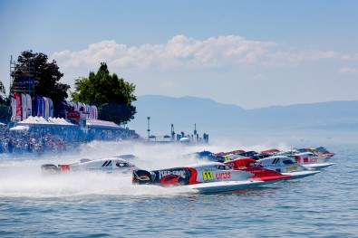UIM F1H2O Grand Prix of France - Evian, 29-30 june - 1 july, 2018 Race Start Photo:Simon Palfrader© Editorial use only