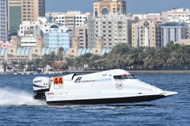 UIM F1H2O World Championship-Sharjah Grand Prix-UAE December 16-21, 2019-Alex Carella of Italy of Maverick Racing-Photo: Vittorio Ubertone-Editorial use only.