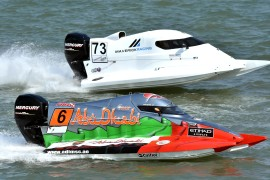 Rashed Al Remeithi of UAE of the Team Abu Dhabi at UIM F4 H2O Censtar Grand Prix of Xiamen-China-October 18-19, 2019 - Picture by Vittorio Ubertone/Idea Marketing - copyright free editorial